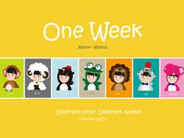 oneweek2锁屏图