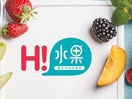 品牌logo~~hi水果~~