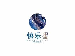 快乐星logo设计 标志设计 商标设计 儿童设计 培训设计 平面设计