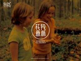 花轮森林logo设计 字体logo 户外 中文字体 儿童教育logo vi设计 学校 英文字体