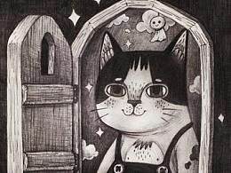 一些猫咪主题的手稿