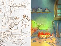 分享一个绘画过程