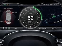 电动汽车仪表盘界面