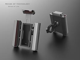 原创设计   自行车手机支架