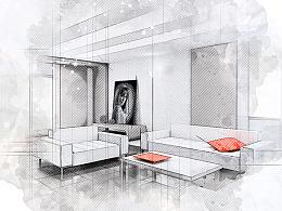 简单处理建筑素描速写图片效果photoshop动作