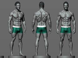 男人体解剖速写练习