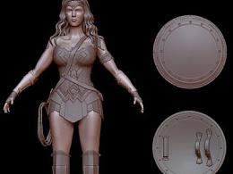 神奇女侠3D建模