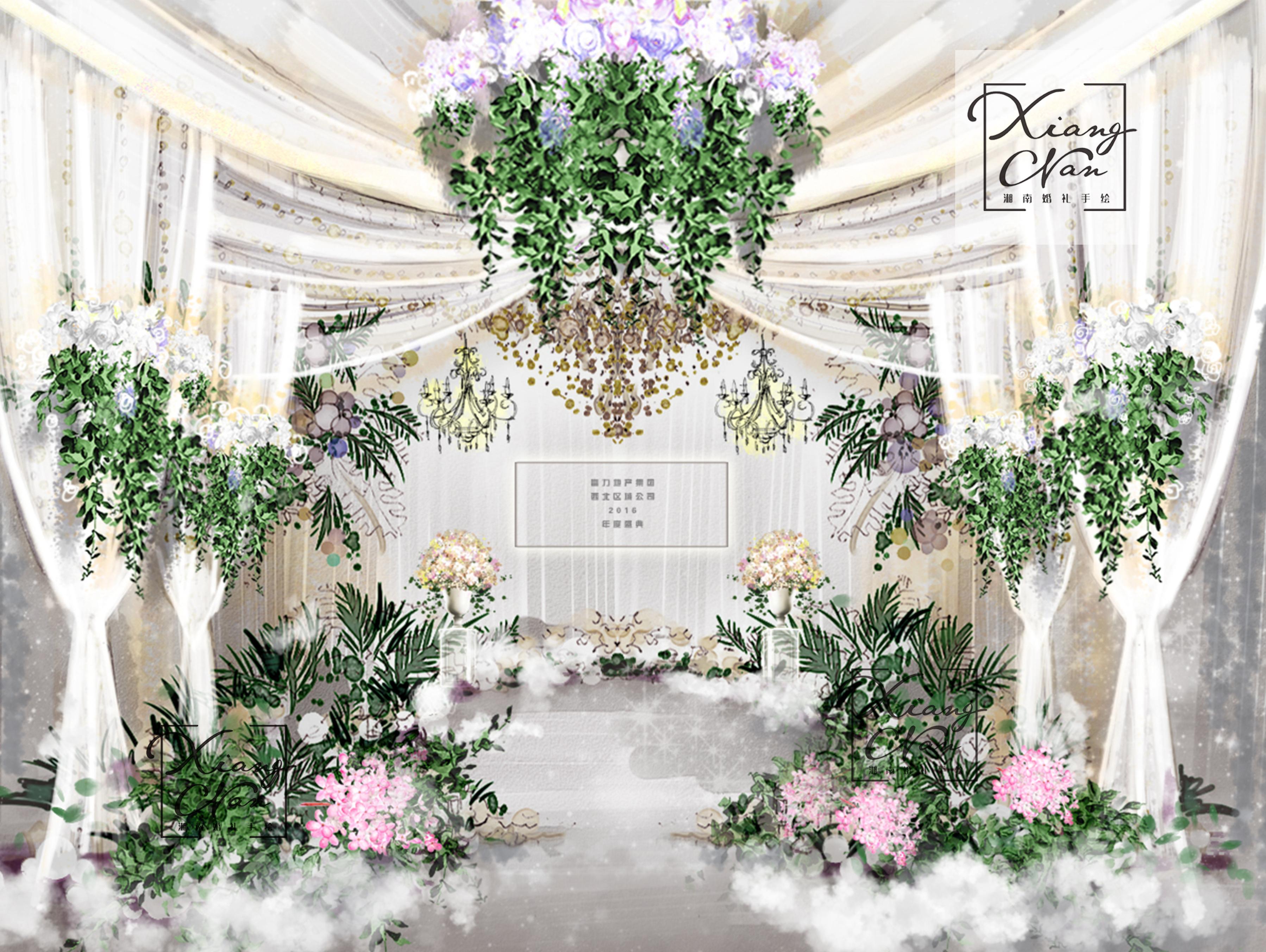 湘南婚礼手绘