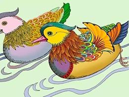2015年《比翼双飞》邮册插画