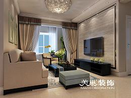 未来华庭装修135平方三室两厅装修设计效果图