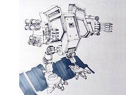 机械模型手绘图