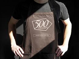 500人众筹 创客空间 咖啡馆 logo最终稿