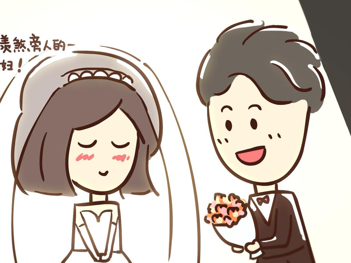手绘逐帧可爱动画《一分钟get结婚流程》