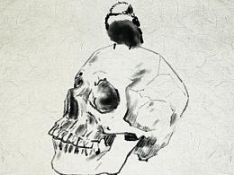 白头翁与头骨