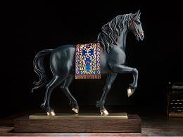铜师傅 全铜摆件《安达卢西亚马》 家居工艺品 装饰品 客厅摆件