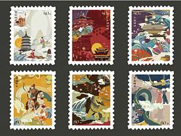 《城影杭忆》—杭州城市主题插画,衍生品之—邮票