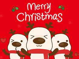 微信表情之大脸鹿圣诞来袭