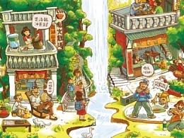 鼎湖山泉品牌插画