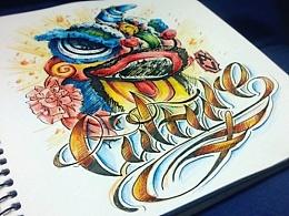 近期(WestCost Tattoo)纹身字体小合集