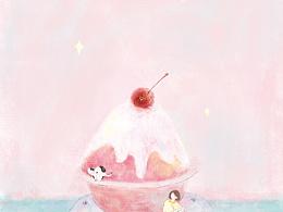 少女 冰淇淋