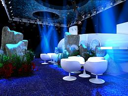 百雀羚旗下品牌海之秘展会设计方案