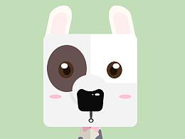 吉祥物设计 狗狗 牛头梗 扁平 扁平吉祥物 形状拼接 色块拼接 萌宠 萌物 萌狗 壁纸 头像
