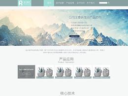 公司企业网站设计-素雅简洁清新