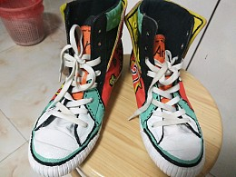 旧鞋手绘翻新