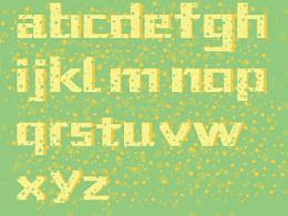 奶酪字体 海绵字体