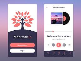 UI临摹-Meditation App