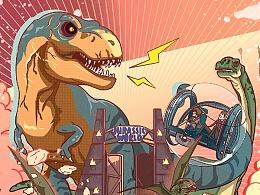(2015年)大众甲壳虫侏罗纪电影插画