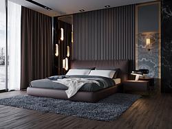 现代轻奢卧室,没后期
