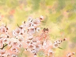 春日杏花雨