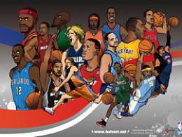 NBA季后赛原创插画——诸神之战