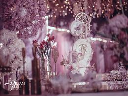 紫色系婚礼蛋糕