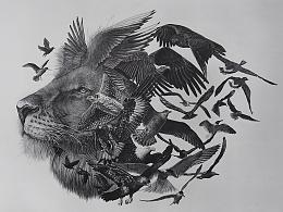 Le roi lion et les oiseaus