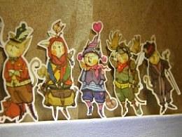 喵星人贴纸更新啦五只喵星人---豆巴、浴袍侦探、劳斯特、磨叽和麦哲伦