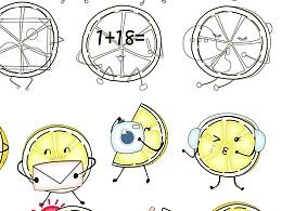 柠檬图标草图+上色