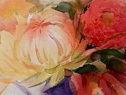 水彩花卉练习