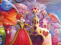 爱丽丝梦游仙境插画设计分享