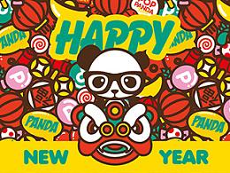 POP PANDA 台历2015