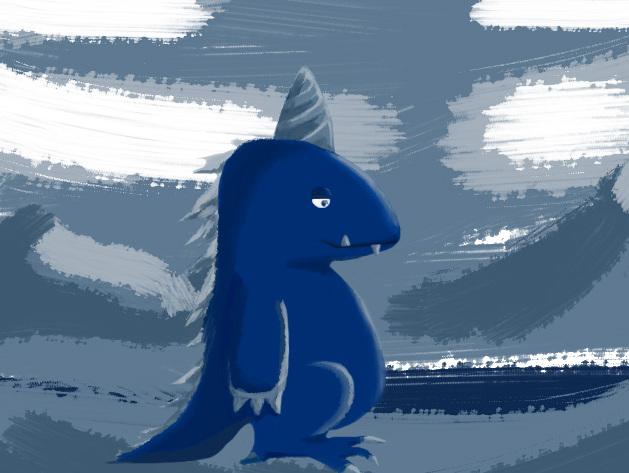 手绘小恐龙