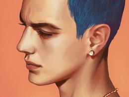 蓝色短发---临摹练习