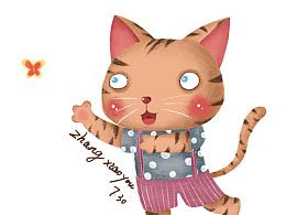 豹纹猫猫一只。