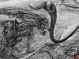 青蛙吐舌头--大战异形骤图