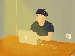 正在coding的程序员