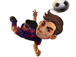 一款足球小游戏的相关平面设计等
