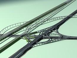 立交桥建模作品