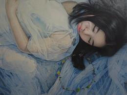 高端彩铅画定制——《睡美人》