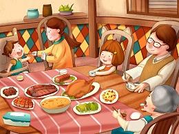 儿童插画《美好的一天》和《动物回森林》选张